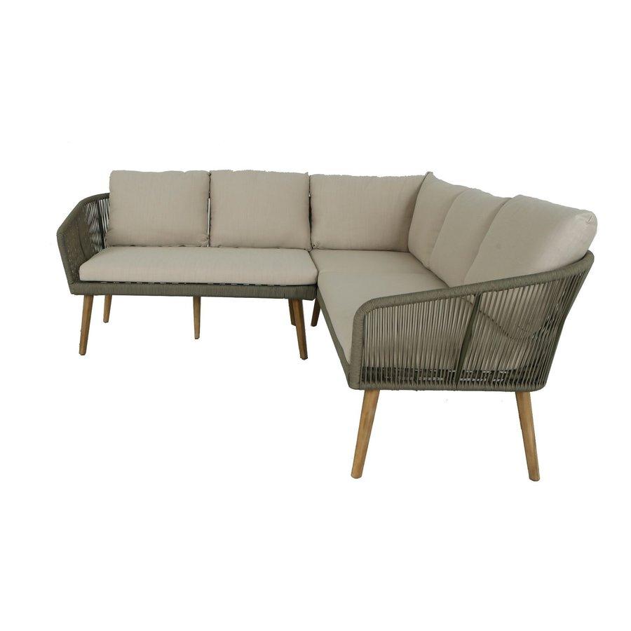 Hoek Loungeset - Altea - Olive - Rope - Alu - Garden Interiors-2