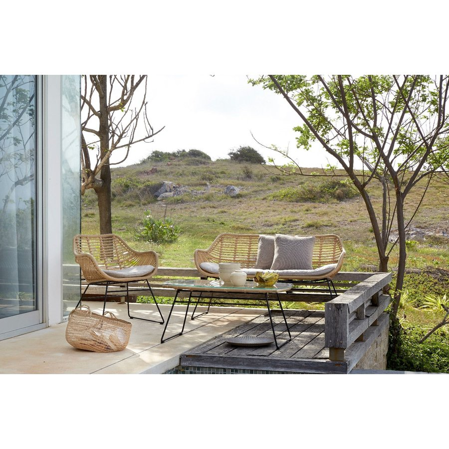 Stoel-Bank Loungeset - Wates - Rotan Look - Naturel - Garden Interiors-3
