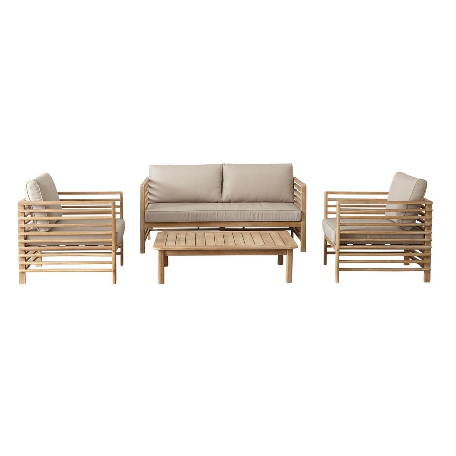 Stoel-Bank Loungeset - Selby - Acacia - Zand - Garden Interiors-1