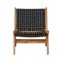 thumb-Lounge Tuinstoel - Delhi - Acacia - Zwart - Garden Interiors-2