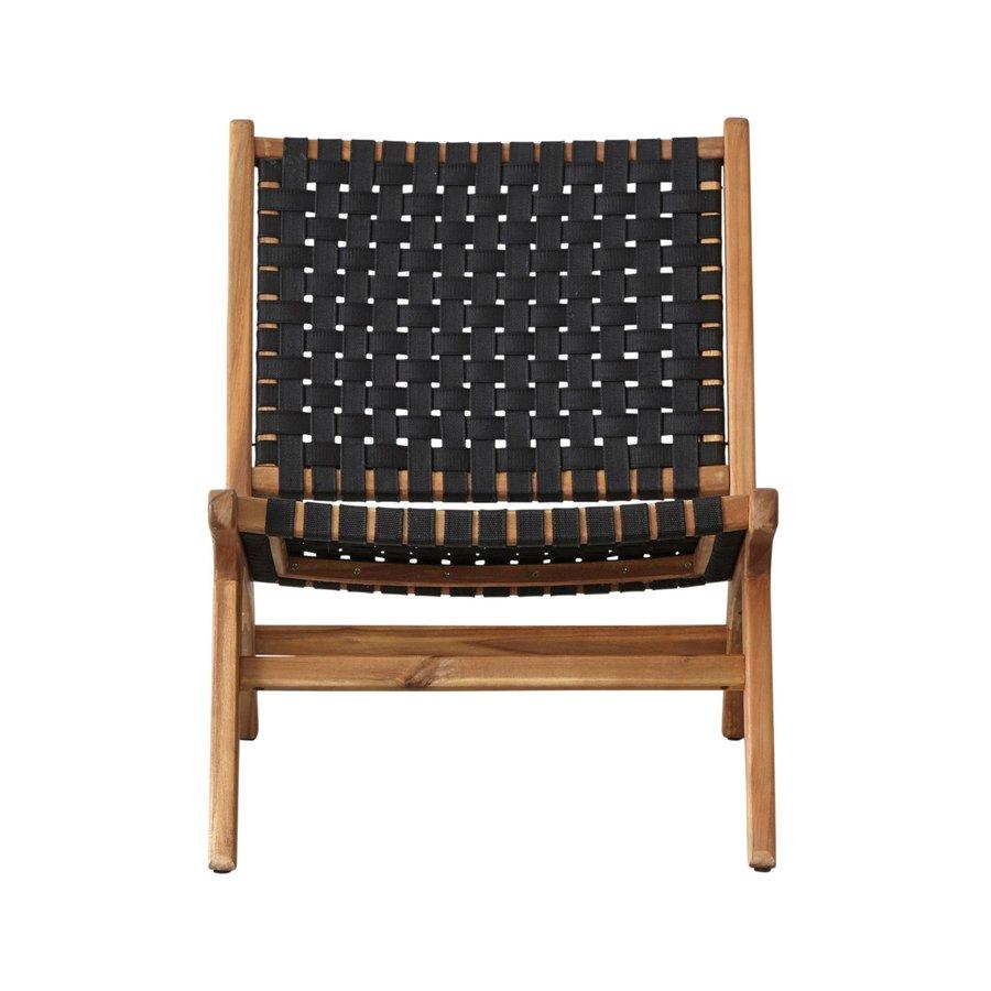 Lounge Tuinstoel - Delhi - Acacia - Zwart - Garden Interiors-2