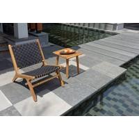 thumb-Lounge Tuinstoel - Delhi - Acacia - Zwart - Garden Interiors-3