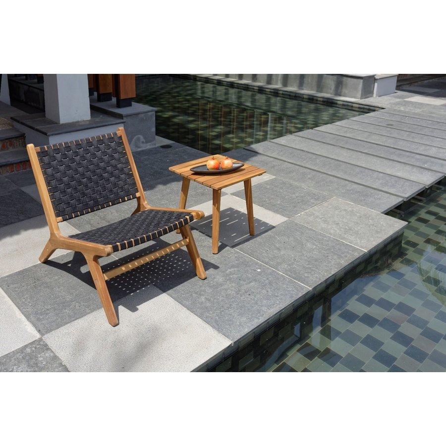 Lounge Tuinstoel - Delhi - Acacia - Zwart - Garden Interiors-3