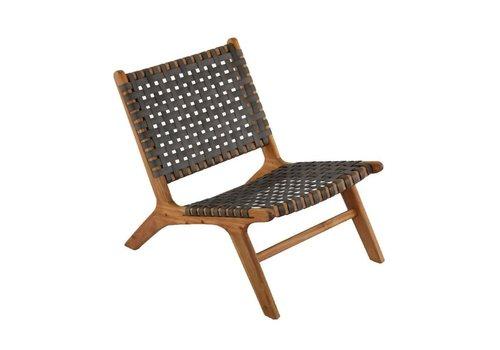Lounge Tuinstoel - Delhi - Acacia - Antraciet - Garden Interiors