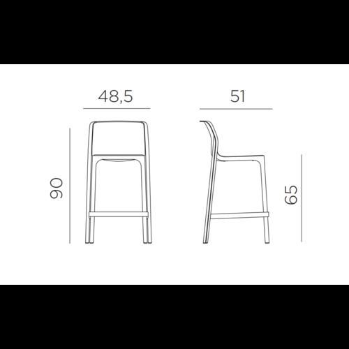 Nardi Stapelbare Barkruk - 65 cm - NET MINI - Senape - Mosterd Geel - Nardi