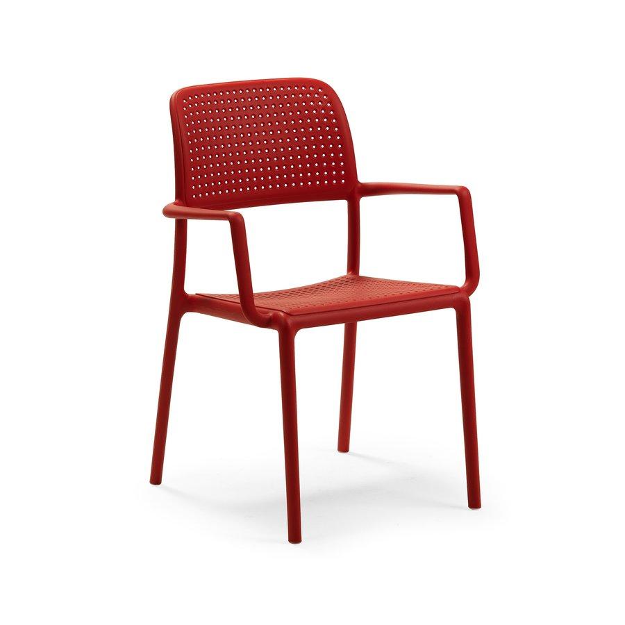 Tuinstoel - Bora - Rosso - Rood - Kunststof - Nardi-1