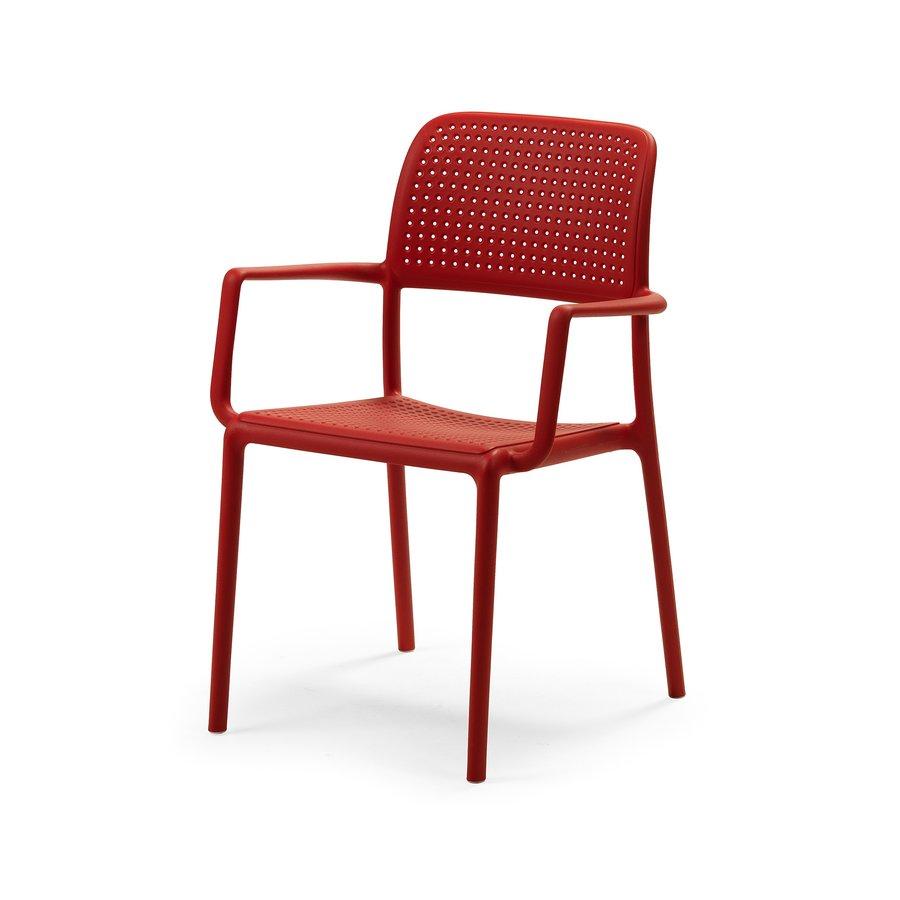Tuinstoel - Bora - Rosso - Rood - Kunststof - Nardi-2