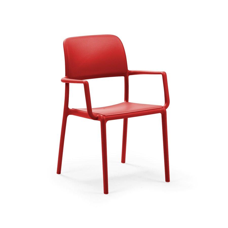 Tuinstoel - Riva - Rosso - Rood - Kunststof - Nardi-1