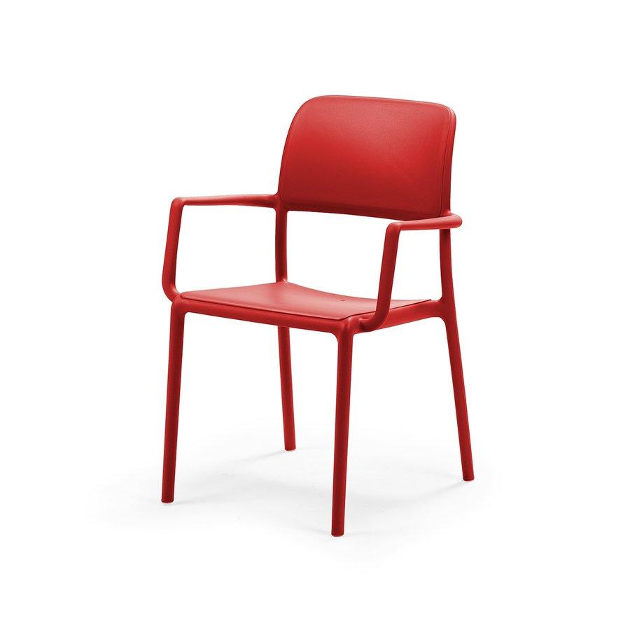 Tuinstoel - Riva - Rosso - Rood - Kunststof - Nardi-2