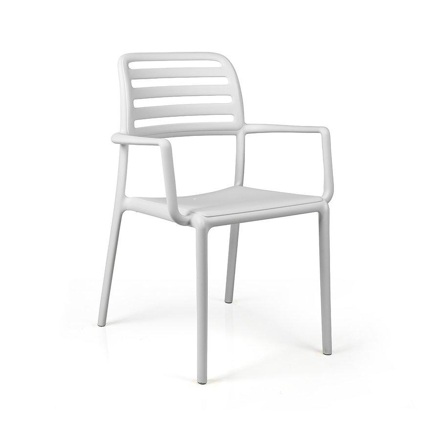 Tuinstoel - Costa - Bianco - Wit - Kunststof - Nardi-1
