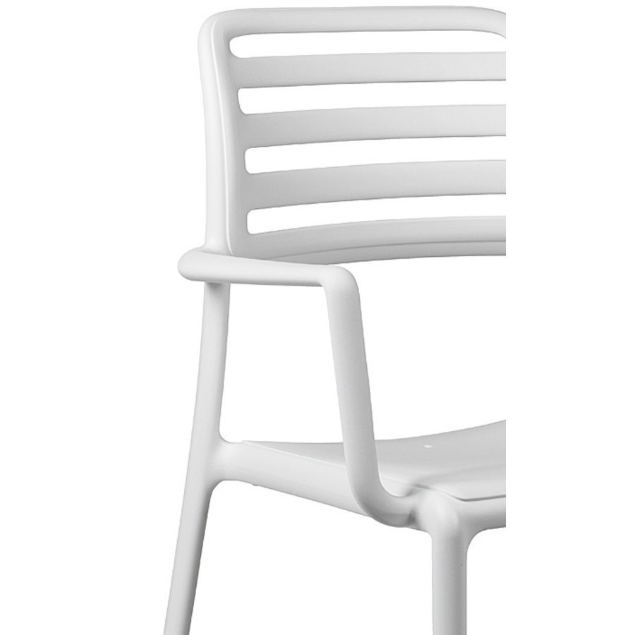 Tuinstoel - Costa - Bianco - Wit - Kunststof - Nardi-5