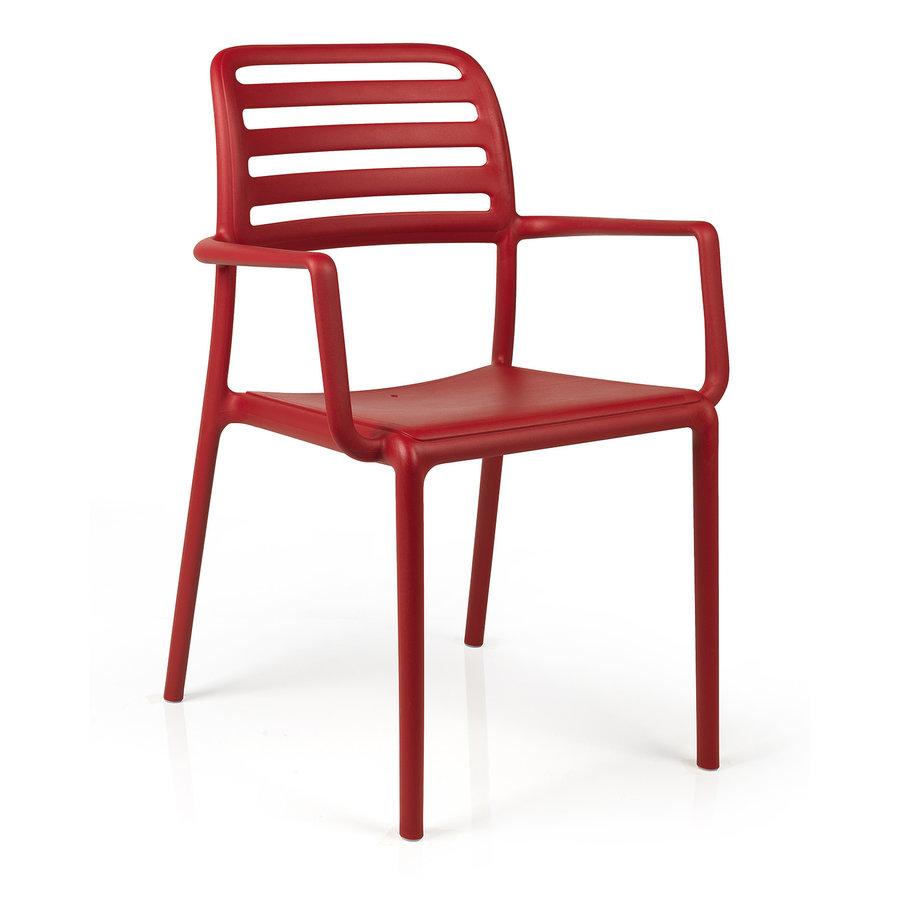 Tuinstoel - Costa - Rosso - Rood - Kunststof - Nardi-1
