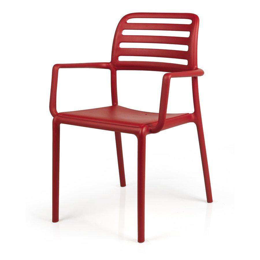 Tuinstoel - Costa - Rosso - Rood - Kunststof - Nardi-2