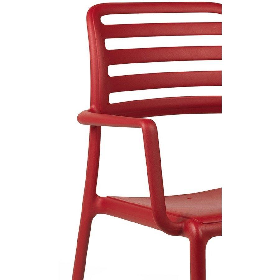 Tuinstoel - Costa - Rosso - Rood - Kunststof - Nardi-6
