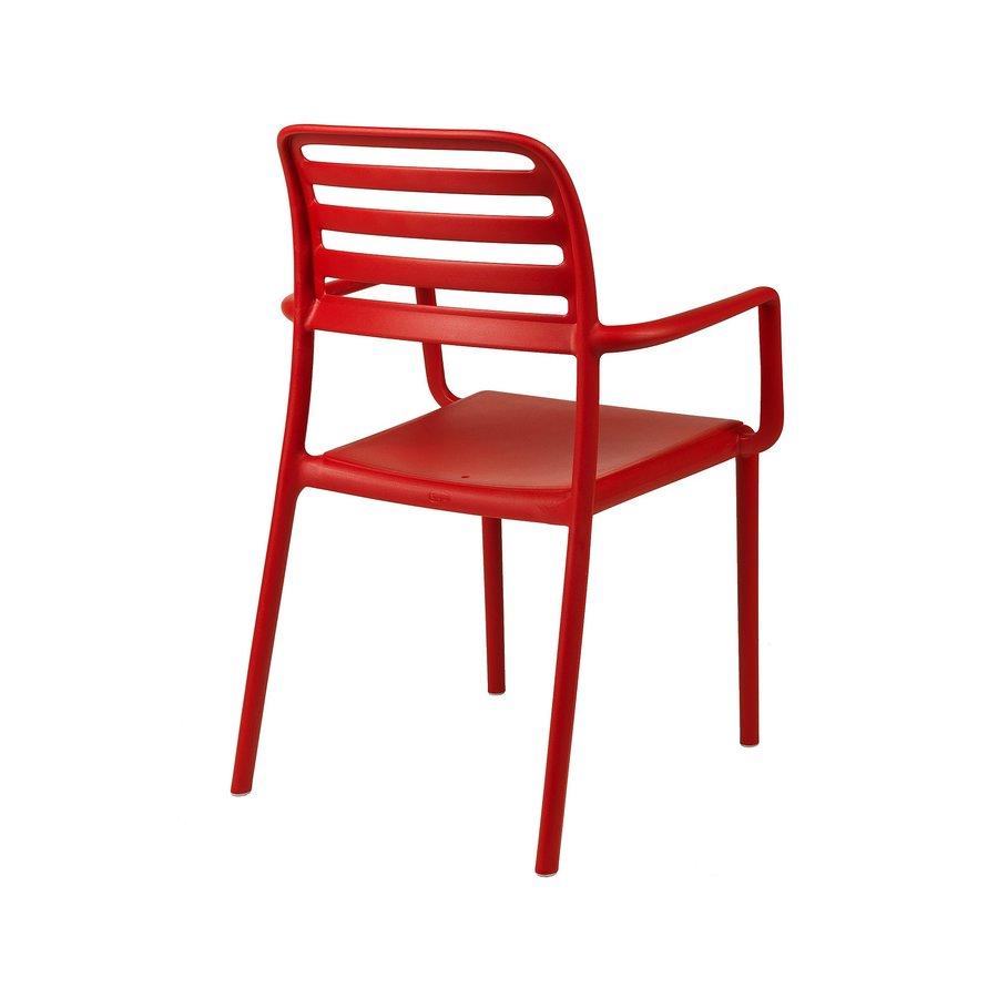 Tuinstoel - Costa - Rosso - Rood - Kunststof - Nardi-4