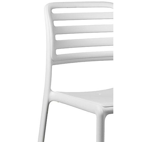 Nardi Tuinstoel - Costa Bistrot - Bianco - Wit - Kunststof - Nardi