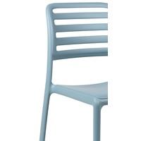 thumb-Tuinstoel - Costa Bistrot - Celeste - Blauw - Kunststof - Nardi-3