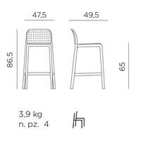 thumb-Barkruk Buiten - 65 cm - LIDO MINI - Agave - Groen - Nardi-6