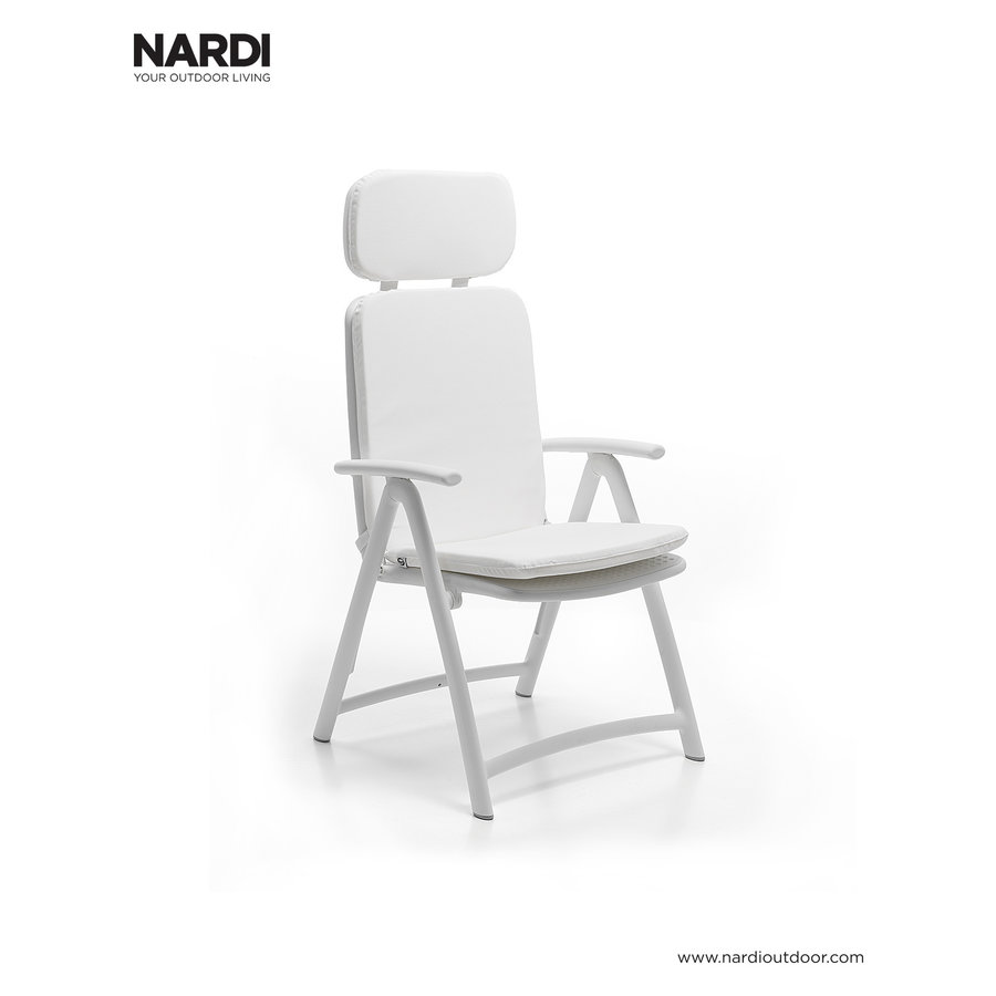 Standenstoel - Acquamarina - Bianco - Wit - Kunststof - Nardi-5