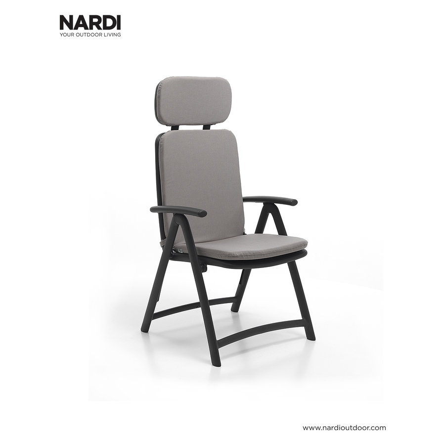 Standenstoel - Acquamarina - Antraciet - Kunststof - Nardi-6