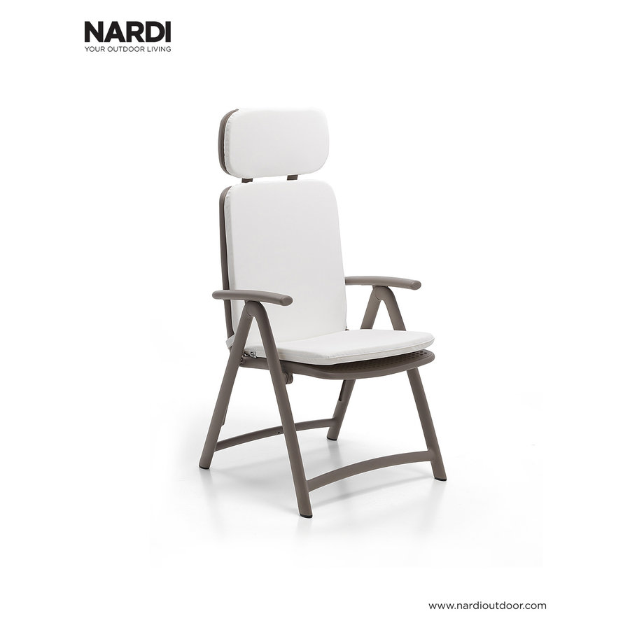Standenstoel - Acquamarina - Tortora - Taupe - Kunststof - Nardi-5