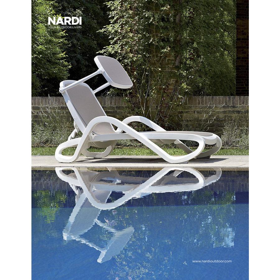 Ligbed - Alfa - Wit/Blauw - Kunststof - Nardi-4