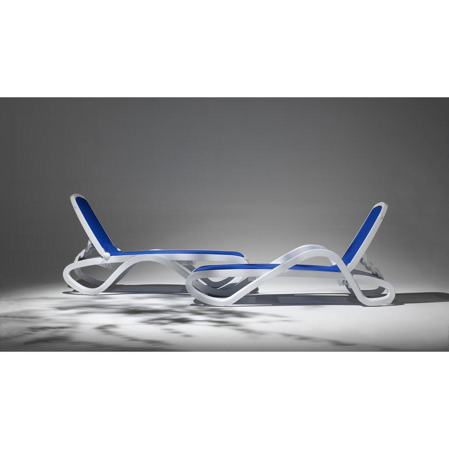 Ligbed - Alfa - Wit/Blauw - Kunststof - Nardi-3