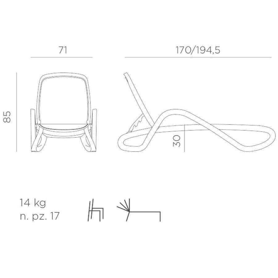 Ligbed - Alfa - Wit/Taupe - Kunststof - Nardi-9