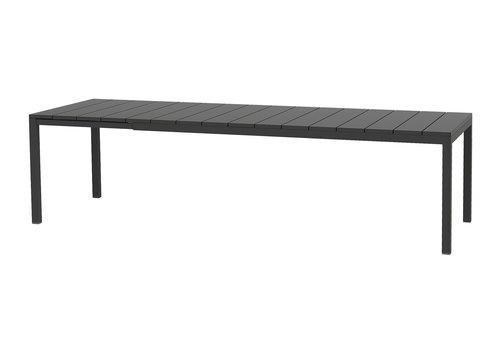 Tuintafel - RIO - Antraciet - Uitschuifbaar 210/280 cm - Nardi
