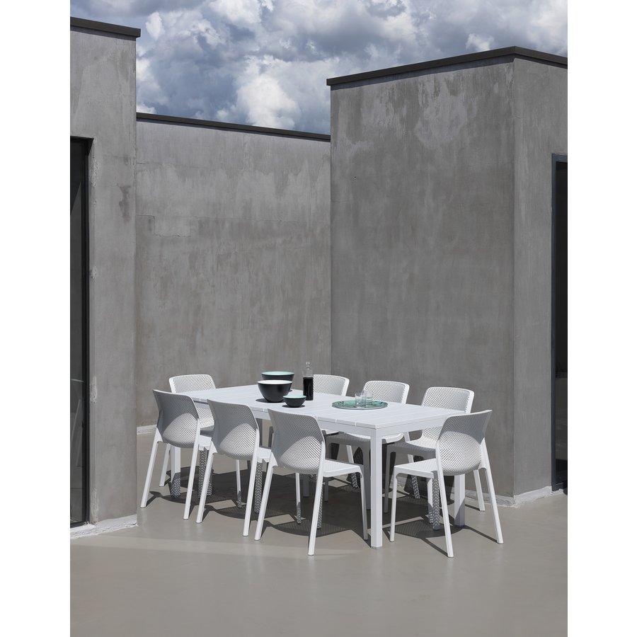 Tuintafel - RIO - Wit - Uitschuifbaar 140/210 cm - Nardi-3