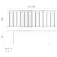 thumb-Tuintafel - Alloro - Wit - Uitschuifbaar 210/280 cm - Nardi-7