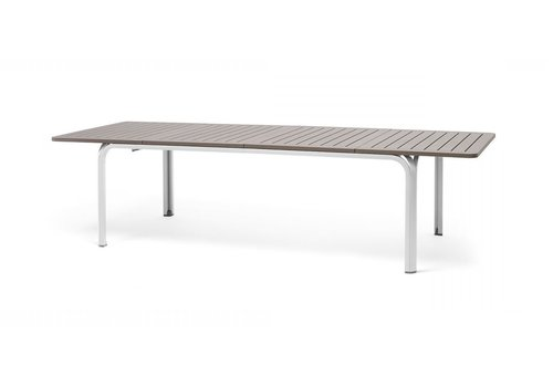 Tuintafel - Alloro - Wit/Taupe - Uitschuifbaar 210/280 cm - Nardi