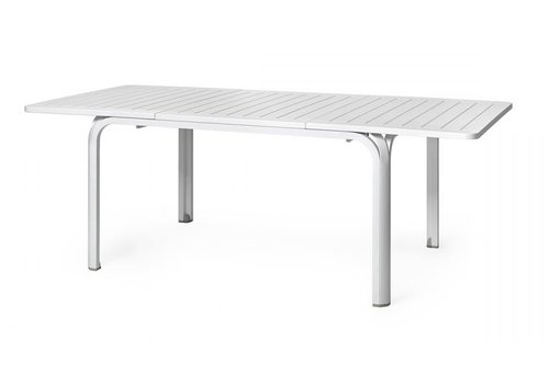 Tuintafel - Alloro - Wit - Uitschuifbaar 140/210 cm - Nardi