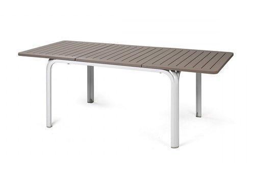 Tuintafel - Alloro - Wit/Taupe - Uitschuifbaar 140/210 cm - Nardi
