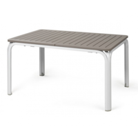 thumb-Tuintafel - Alloro - Wit/Taupe - Uitschuifbaar 140/210 cm - Nardi-2