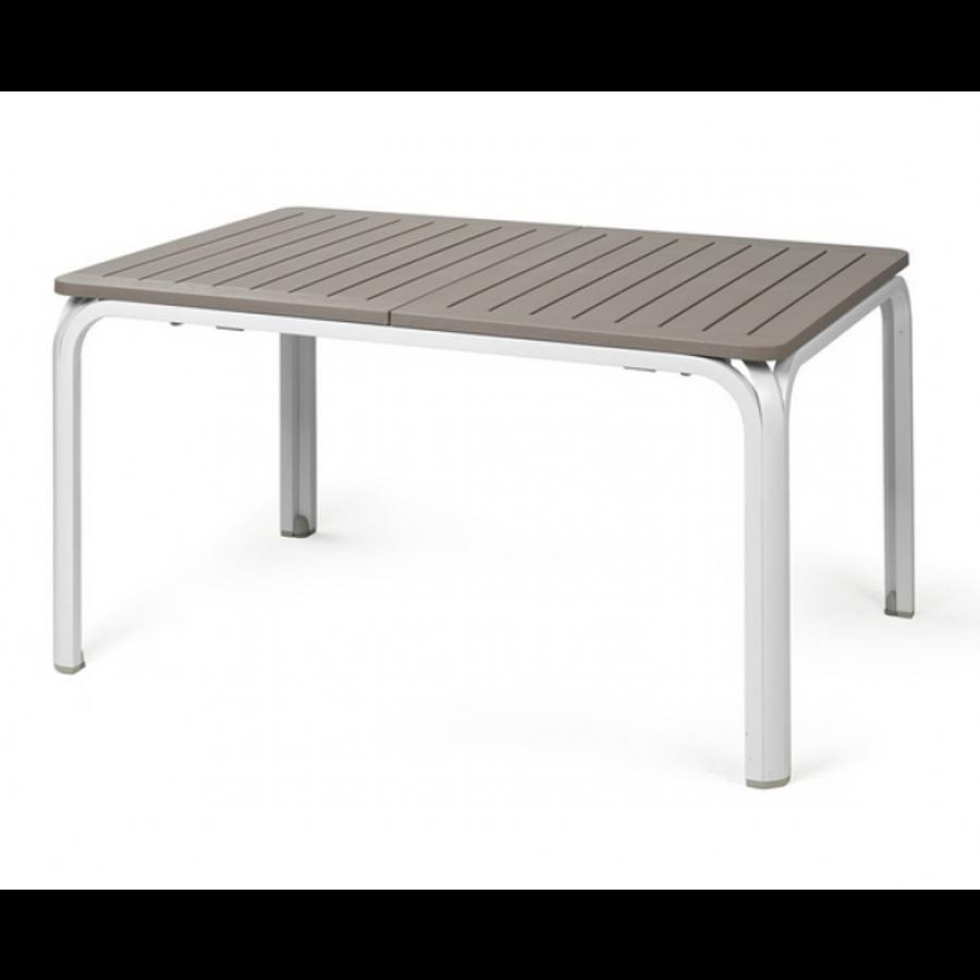 Tuintafel - Alloro - Wit/Taupe - Uitschuifbaar 140/210 cm - Nardi-2