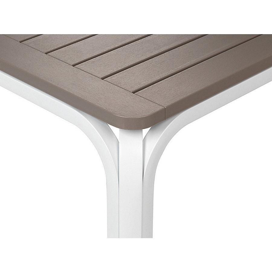 Tuintafel - Alloro - Wit/Taupe - Uitschuifbaar 140/210 cm - Nardi-8