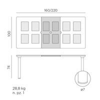 thumb-Tuintafel - Libeccio - Taupe - Uitschuifbaar 160/220 cm - Nardi-8