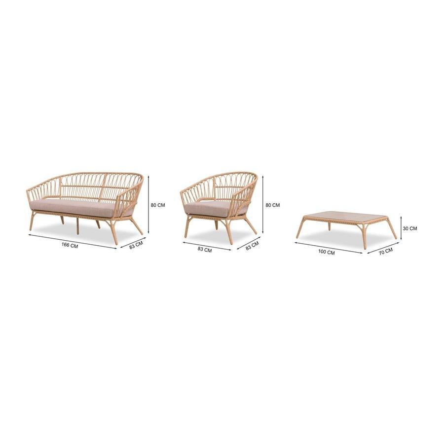 Stoel-Bank Loungeset - Lenco - Bamboo Look - Wicker - Garden Interiors-9
