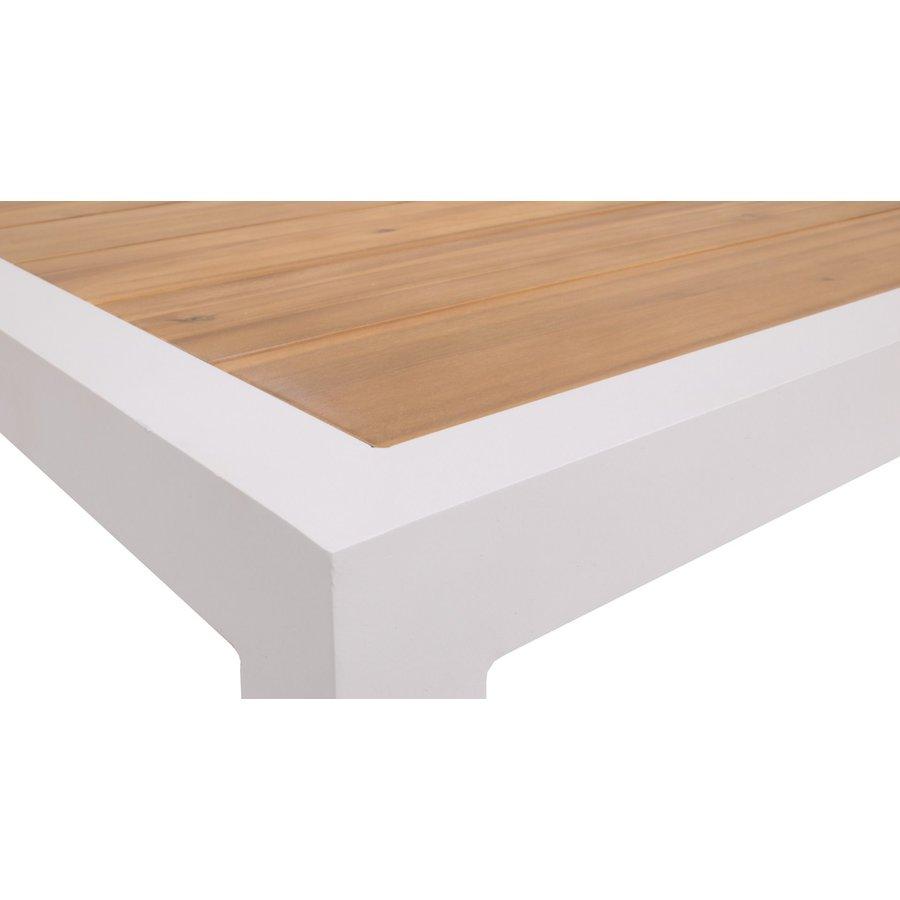 Hoek Loungeset - Valongo - Wit - Aluminium/Acacia - Garden Interiors-7