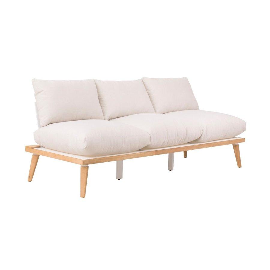 Lounge Tuinbank - Bakersfield - Acacia - Gebroken Wit- Garden Interiors-1