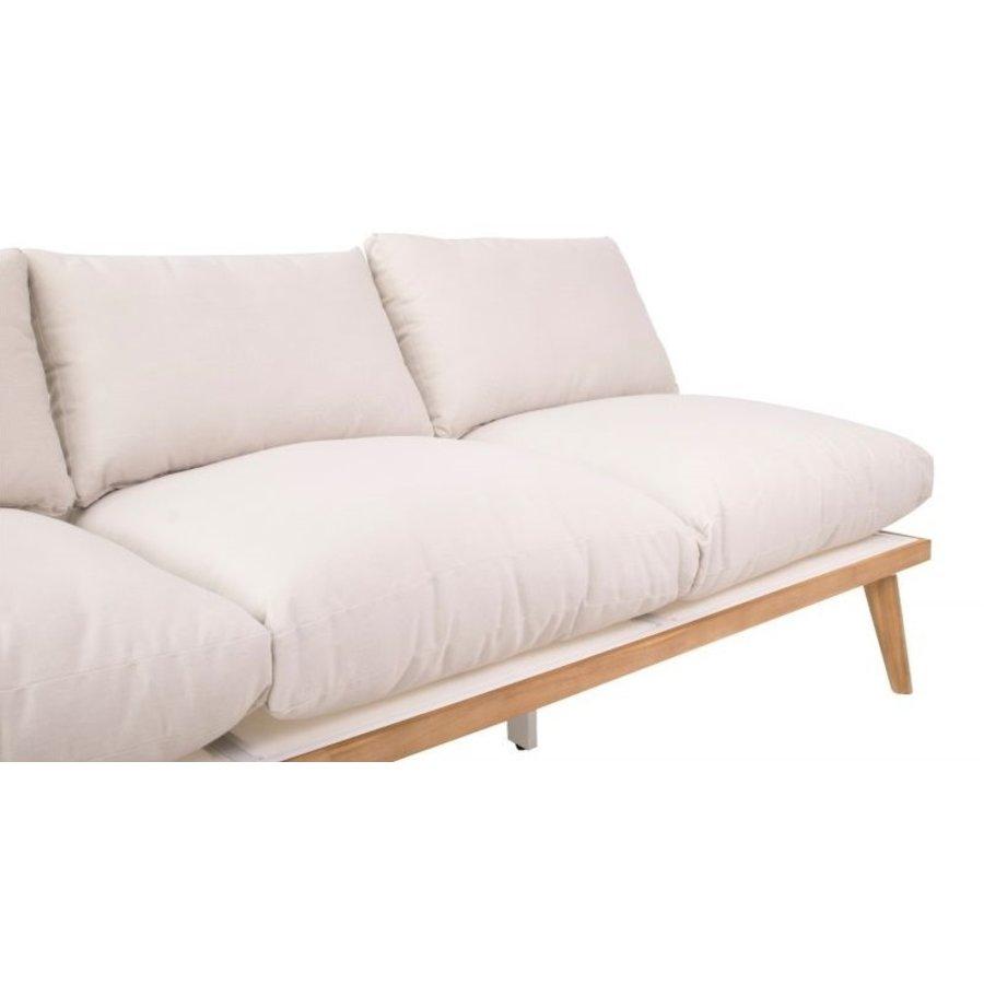 Lounge Tuinbank - Bakersfield - Acacia - Gebroken Wit- Garden Interiors-3