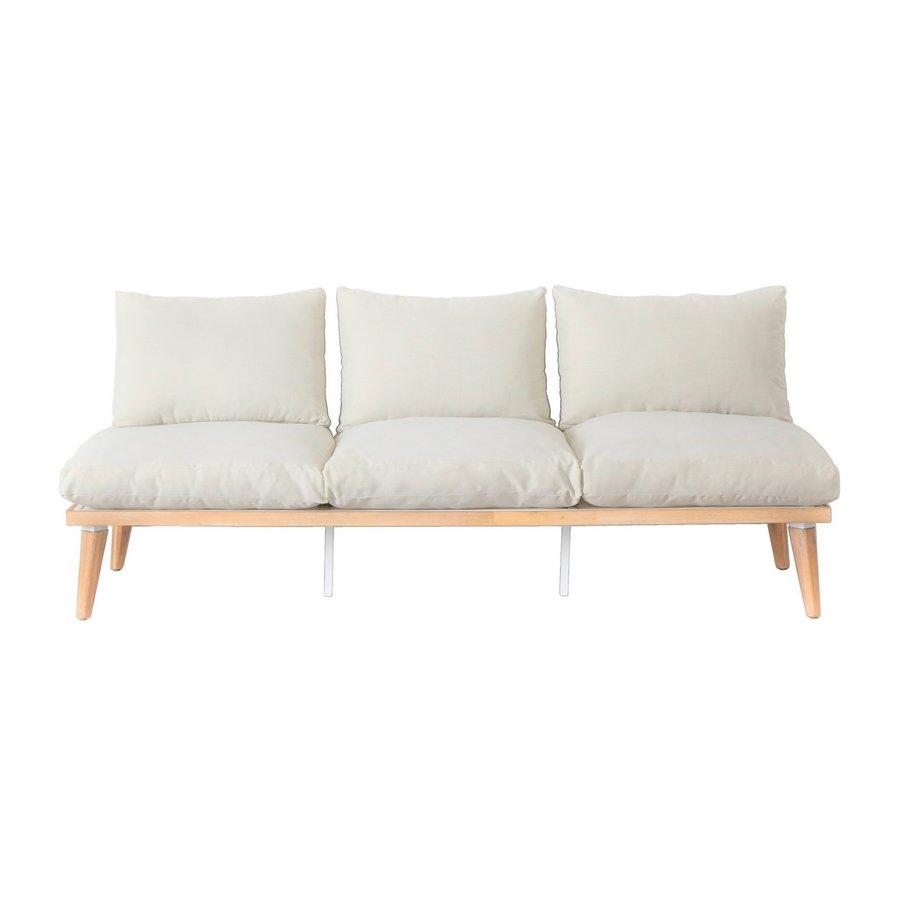 Lounge Tuinbank - Bakersfield - Acacia - Gebroken Wit- Garden Interiors-2
