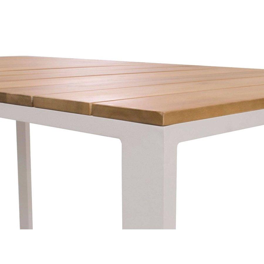 Dining Loungeset - Melton - Wit/Taupe - Aluminium/Acacia - Garden Interiors-6