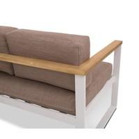 thumb-Dining Loungeset - Melton - Wit/Taupe - Aluminium/Acacia - Garden Interiors-5