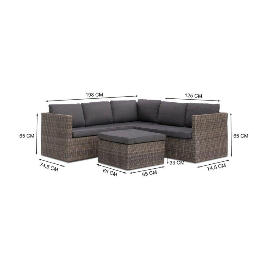 Hoek Loungeset - Sahara - Wicker - Donkergrijs - Garden Interiors-6