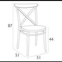 thumb-Tuinstoel - Stapelbaar - Wit - Cross - Siesta-9