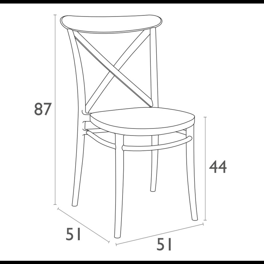 Tuinstoel - Stapelbaar - Donkergrijs - Cross - Siesta-10