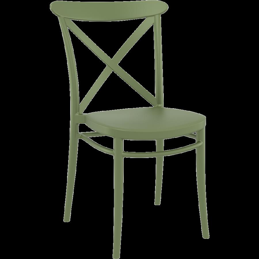 Tuinstoel - Stapelbaar - Olijf Groen - Cross - Siesta-1