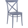 Siesta  Tuinstoel - Stapelbaar - Donkergrijs - Cross - Siesta